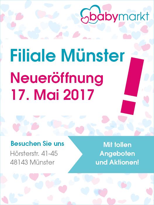 (Lokal Münster) Babymarkt Neueröffnung mit 10% auf alles und Eröffnungsangeboten