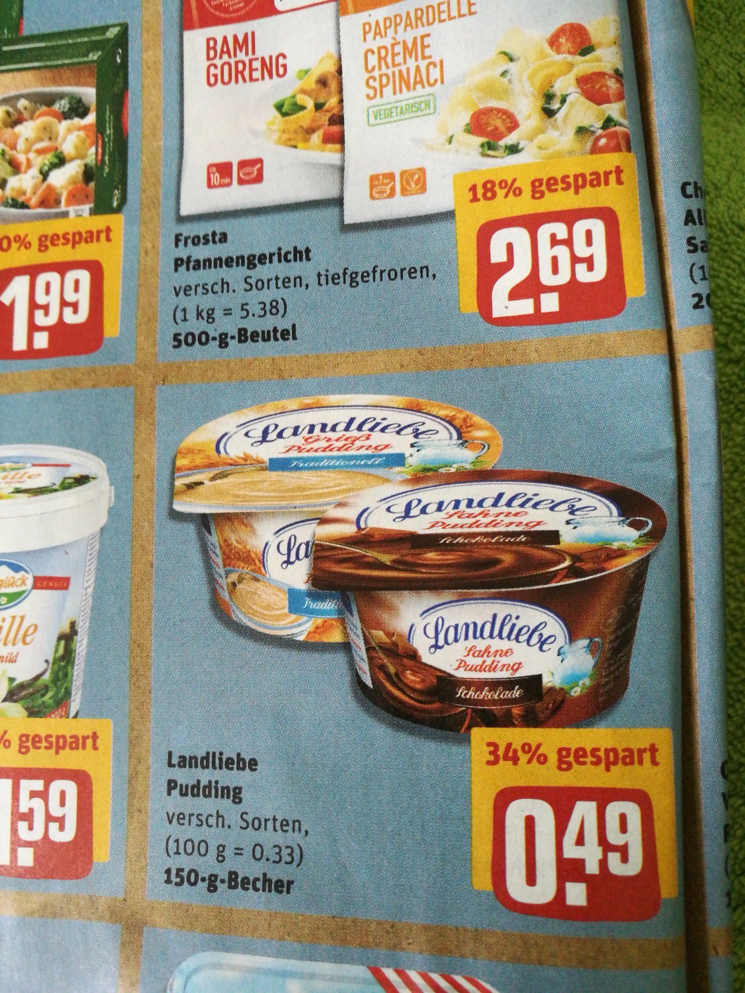 Landliebe Pudding, 6 Stück, Rewe