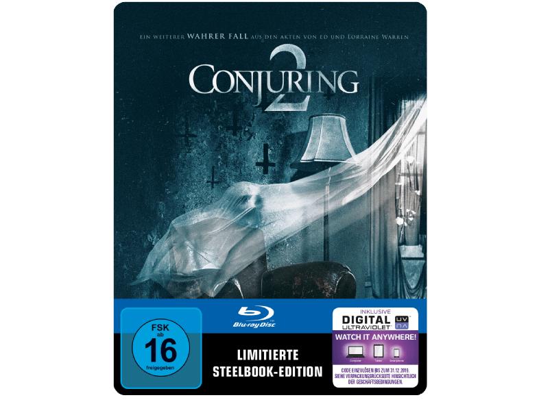 Conjuring 2 (Steel-Edition) (Blu-ray + UltraViolet Digital Copy) für 9,99€ versandkostenfrei (Saturn)