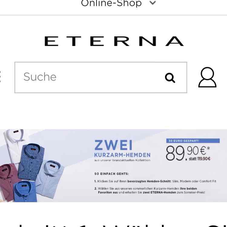 ETERNA Hemden-Set 30€ günstiger +Blusen -15%