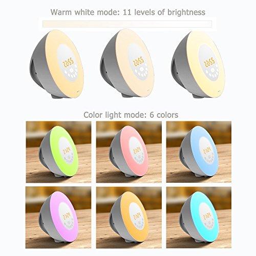 Lichtwecker / Wake-Up Light LED mit 7 Farben, FM-Radio und Natursounds für 29,99 EUR (Amazon Marketplace)
