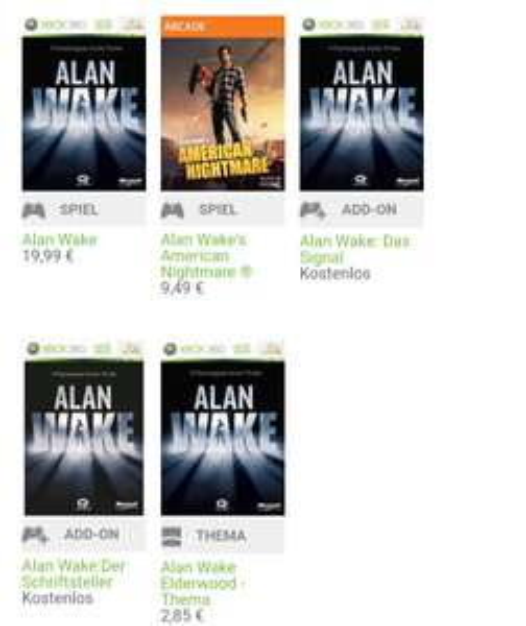 """Alan Wake Add On """"Der Schriftsteller/Das Signal"""""""