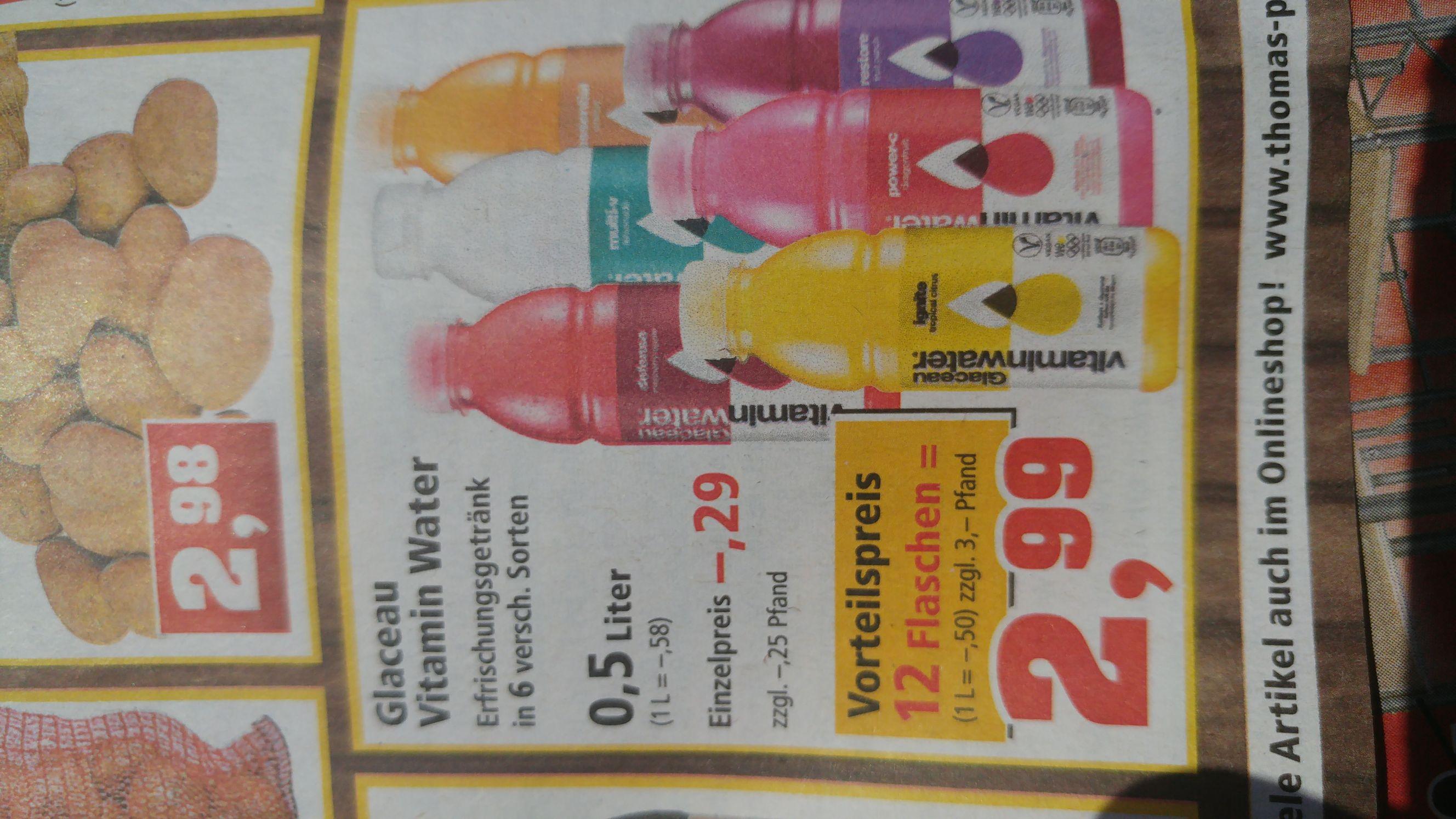 [Thomas Philipps] Glaceau Vitamin Water 12x0,5l für 2,99€
