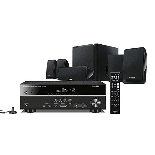 Yamaha YHT-2930 5.1 Home Cinema Set schwarz (AV Receiver + Lautsprecher, 4K, HDR, Bluetooth) für 349,36€ [Amazon.it]