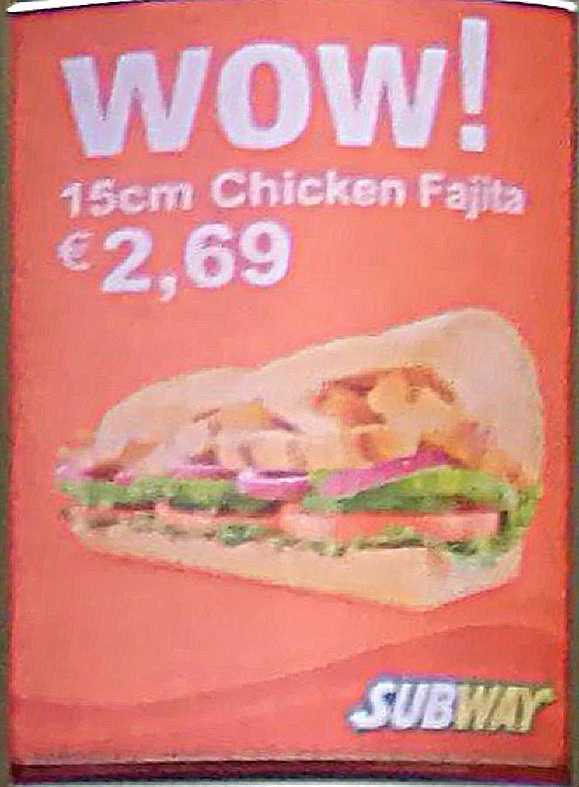 Erfurt HBF: Subway - Chicken Fajita 2,69€