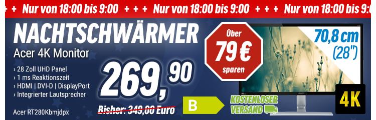 Acer 4k Monitor mit 28 Zoll RT280Kbmjdpx ab 18 Uhr bei NBB