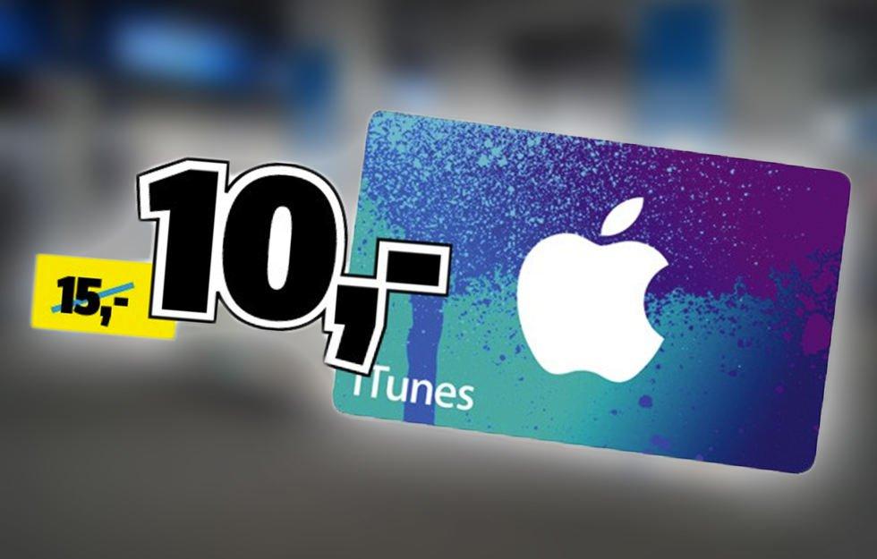 i-Tunes-Karte, für nur 10,-Euro (anstatt 15,-Euro) - Bei Conrad Electronics  (max.3 pro Person)