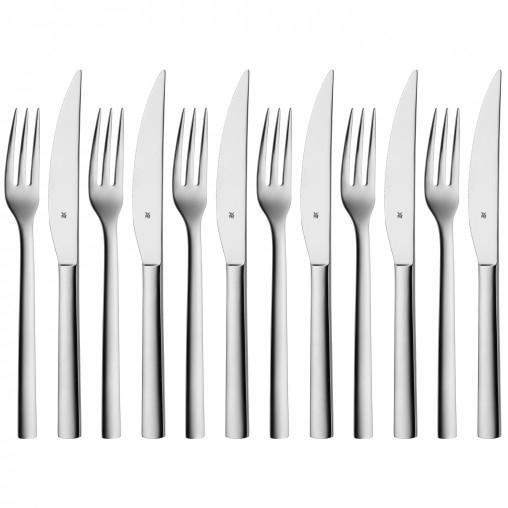 """WMF™ - 12-teiliges Steakbesteck-Set """"Nuova"""" (Edelstahl poliert) für €29,95 [@WMF.de]"""