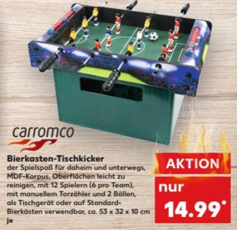Carromco Bierkasten-Tischkicker für 14,99 € (offline ab 18.05.) @ Kaufland bundesweit