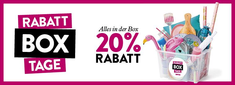 RabattBox Tage bei XENOS -20% auf alles in der Box + Box Gratis ab 25€
