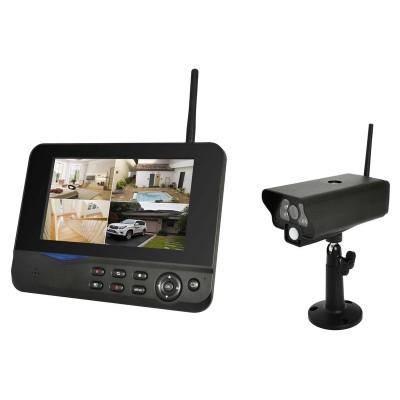 [crowdfox oder sathelden] COMAG Digitales Kamera Funk-Überwachungs-Set (inkl. 7 Zoll TFT Monitor, kabellos, Nachtsicht (Infrarotkamera), 1 Kamera inkl erweiterbar bis zu 4, bis zu 300 m, Aufnahmefunktion, SD bis 32GB, ext. Festplatte bis 1TB)