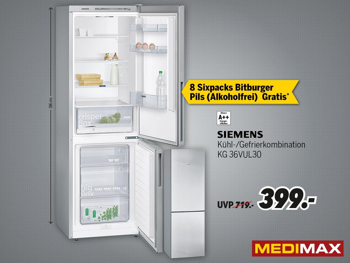 Siemens KG36VUL30 für NUR 399€ MEDIMAX (DORTMUND) + 8er Pack Sixpack Pils