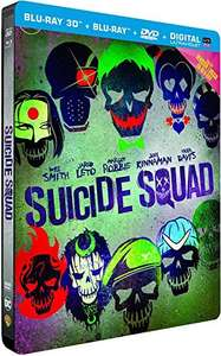 Suicide Squad - Blu-ray 3D + 2D + 2D Extended Edition + DVD + Digitale Kopie (SteelBook) für 20,78€ (Amazon.fr)