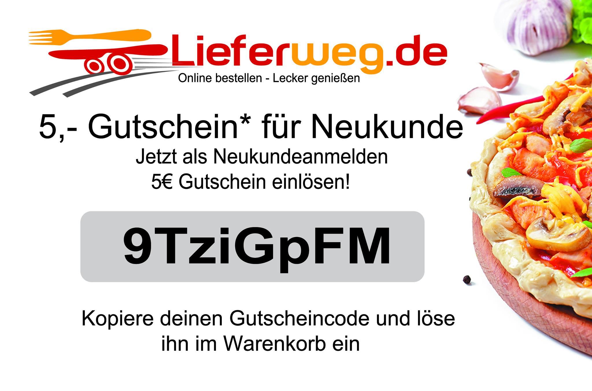 Lieferweg.de - 5€ GS für Neukunden (neuer Lieferservice) / Lokal (OWL)