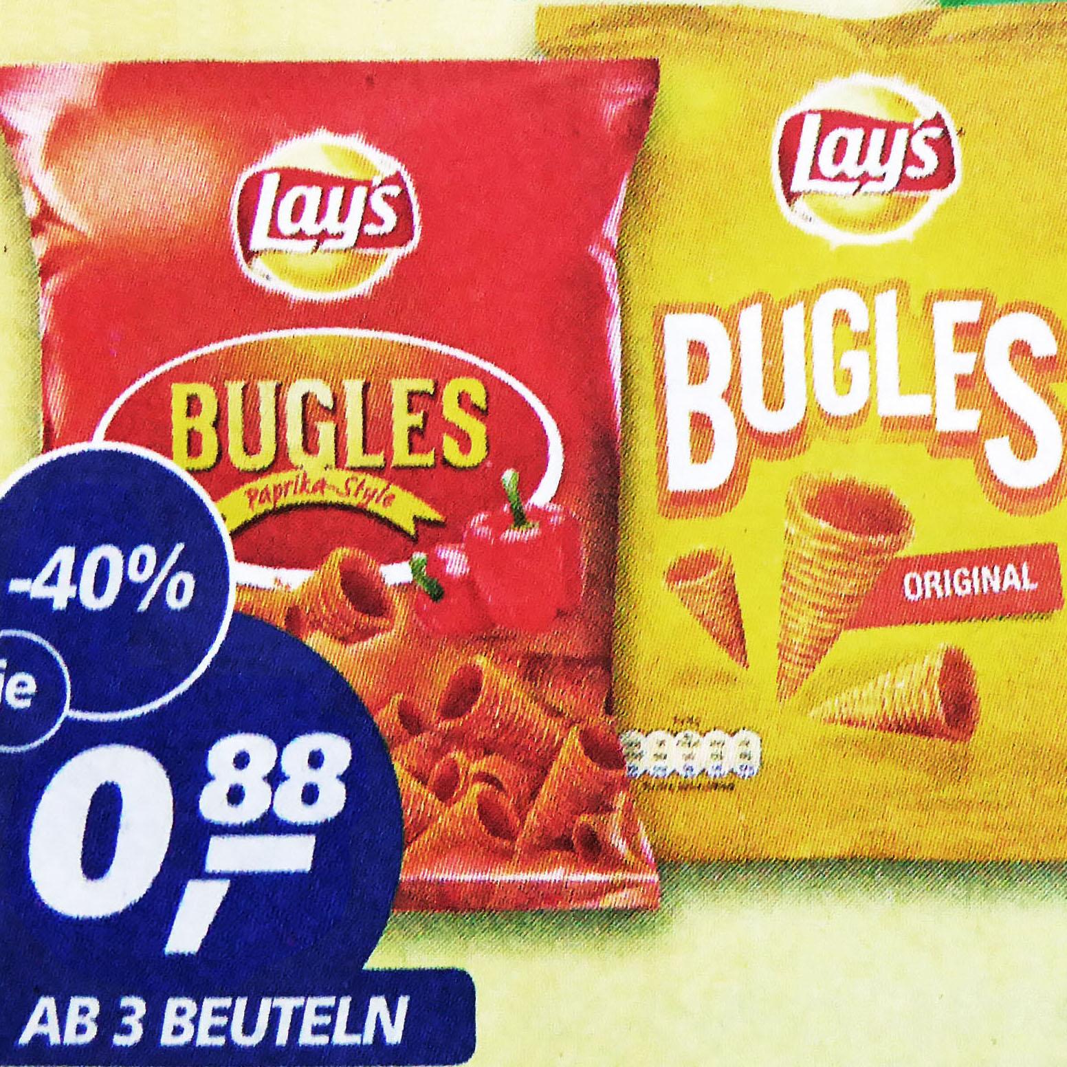 (Real) Lay's Bugles Mais-Snacks statt für 1,49€ für nur 88 Cent