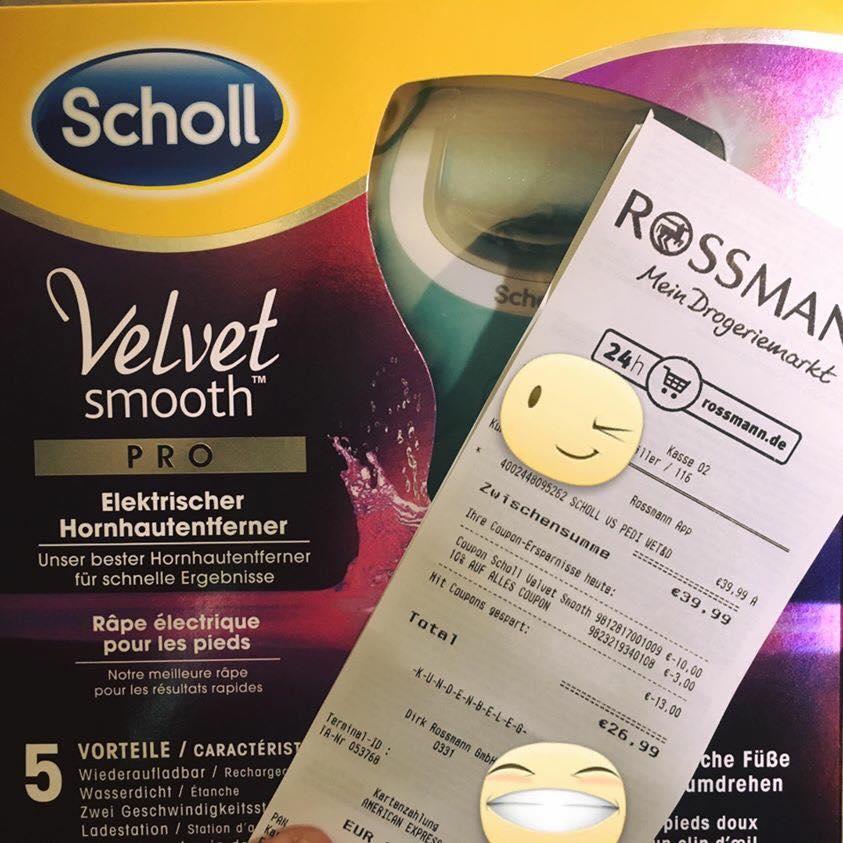 Scholl Velvet Smooth Pro (Hornhautentferner) für 17 Euro (statt ~45 Euro)