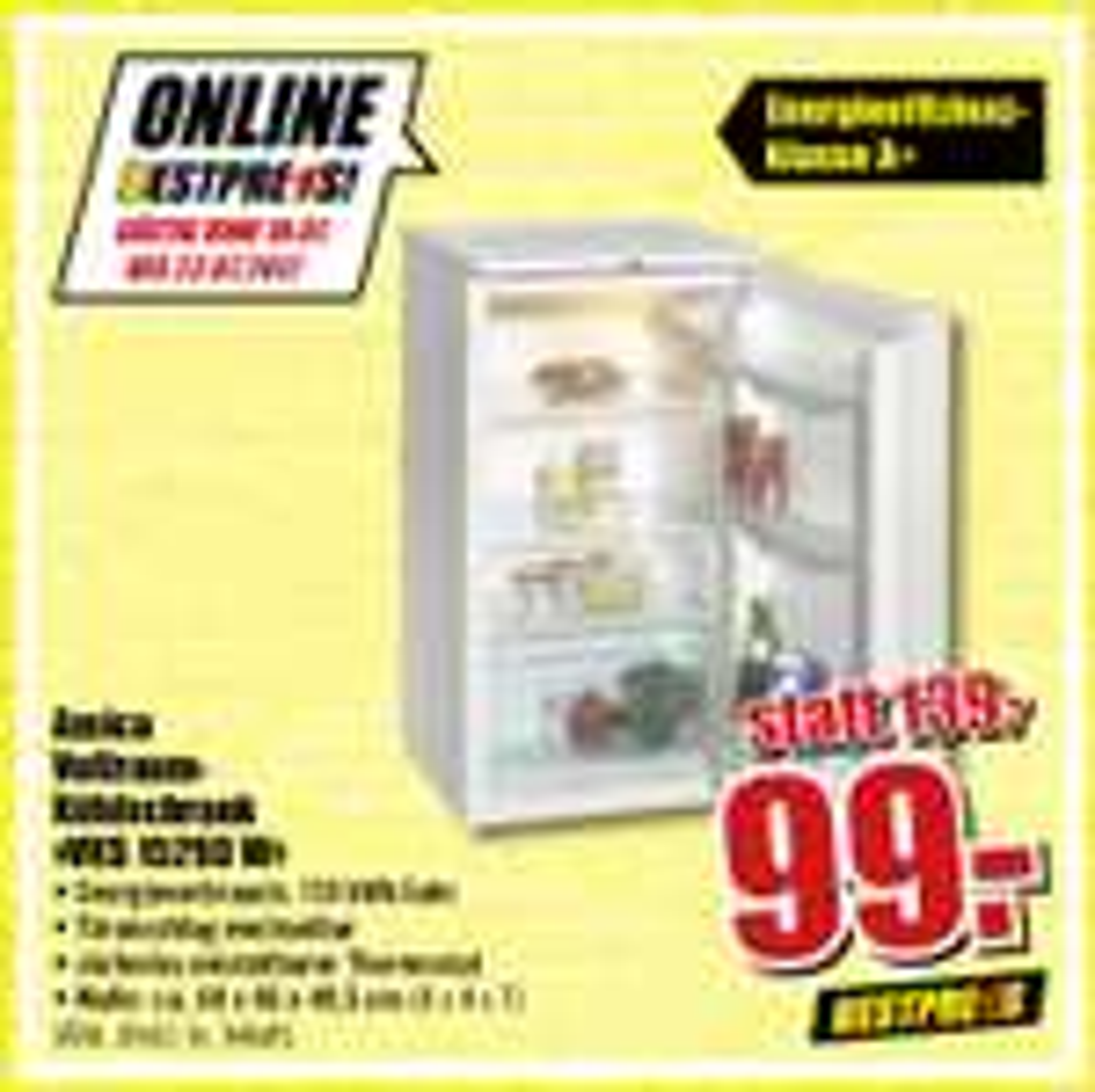 (b1 baumarkt) Amica  Vollraum- Kühlschrank  »VKS 15293 W«
