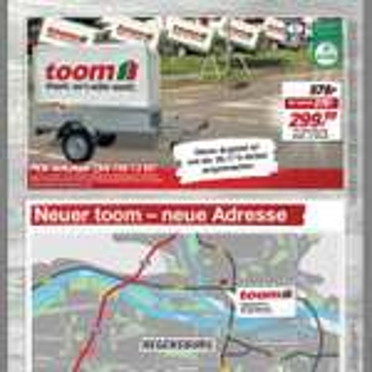 """Toom Regensburg Eröffnung """"Stema Hänger 299 €"""""""