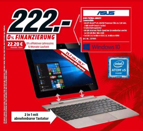 [MM Berlin/Potsdam/Schwedt] ASUS T101HA-GR029T Convertible 64 GB 10.1 Zoll