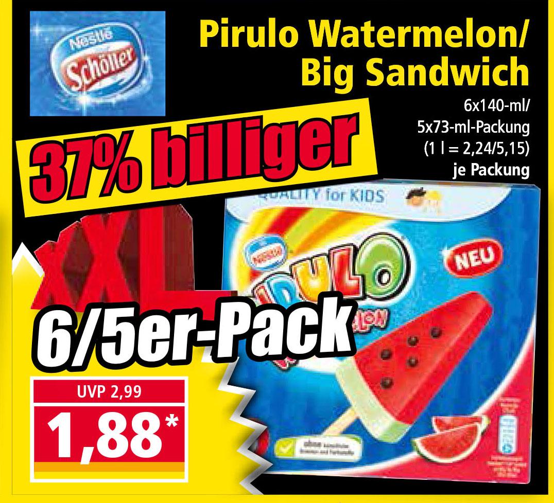 Norma Pirulo Watermelon / Big Sandwich für nur 1,88€