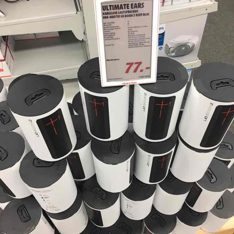 [Lokal Bruchsal Mediamarkt] UE Boom 2 Deep Black für 77€