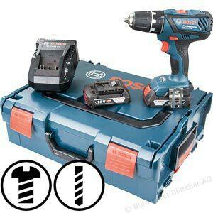 Akku-Bohrschrauber Bosch GSR 18 2 LI Plus  18V / 2,0Ah, mit 2 Akkus und Koffer