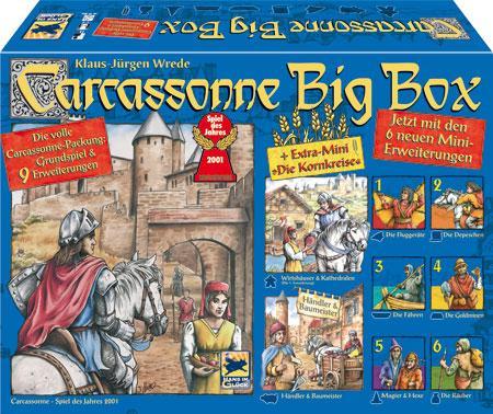 Brettspiele: Carcassonne Bix Box mit 9 Erweiterungen für 33,99€,  Qwirkle Big Box für 22,99€, Angry Birds Space - Mensch ärgere dich nicht für 19,99€,..uvm.
