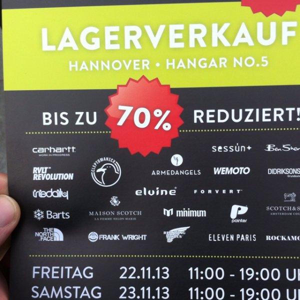 Lagerverkauf bei Backyard mit Gratis Getränke, Lokal Hannover