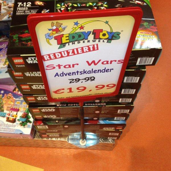 [Lokal Bad Oeynhausen] Teddy Toys ,  Lego Star Wars Adventskalender 75023, 19,99 Euro
