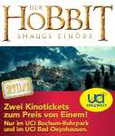 [Lokal] Ein Ticket Gratis in UCI Bochum & UCI Bad Oeynhausen : Hobbit