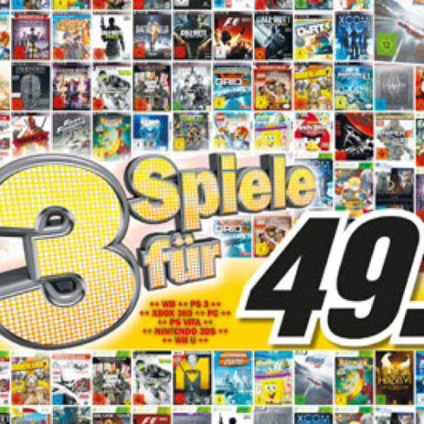 3 Games für 49€ @ Mediamarkt