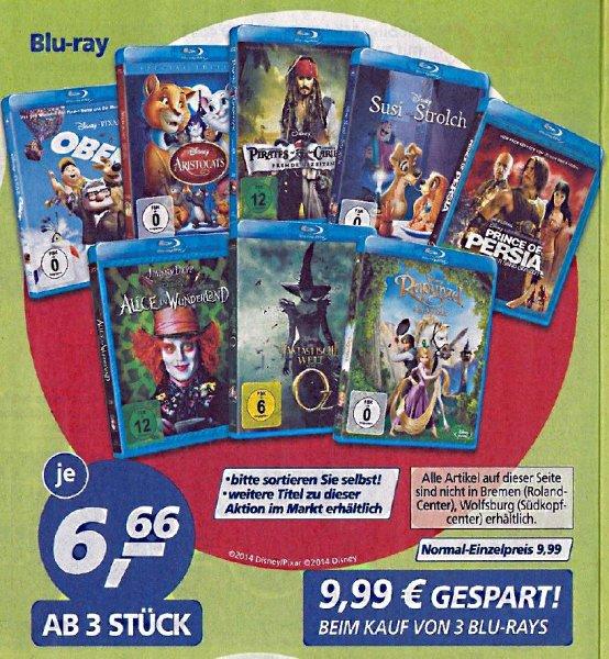 [Real] Disney Blu-rays für je 6,66€ (ab 3 Stück) - offiziell ab Montag
