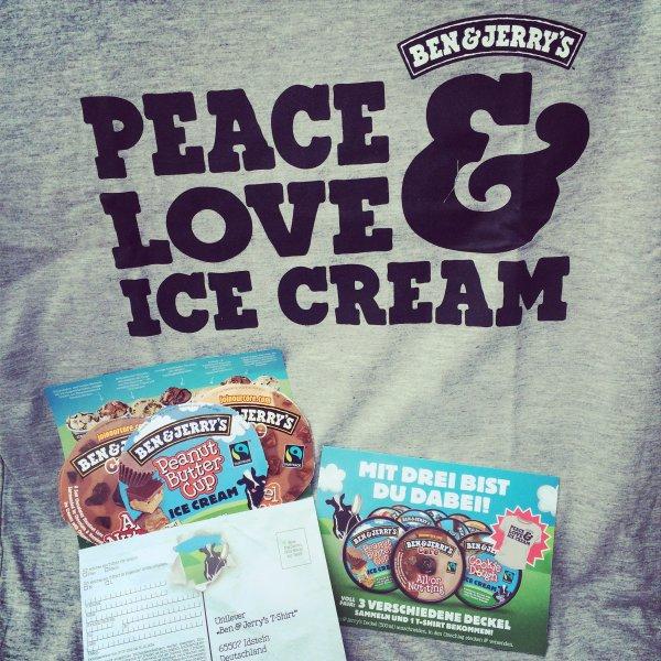 Ben & Jerry's T-Shirt gratis bei 3 Deckeln