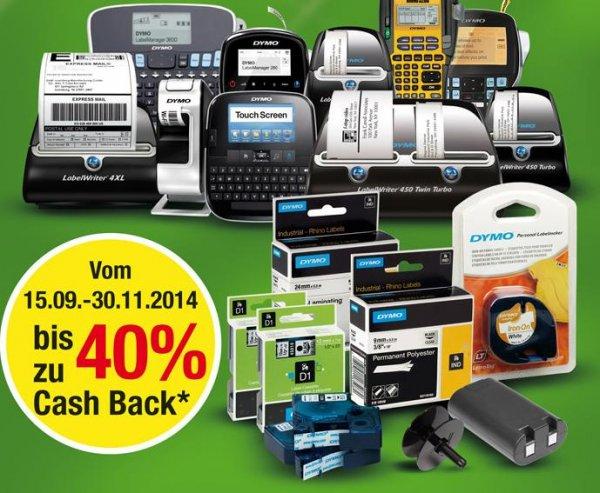 B is zu 40% Cashback auf alle Dymo Produkte