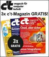 3x c't Magazin gratis testen über Sovendus Link
