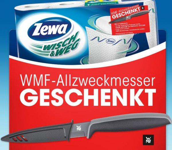 3 ZEWA wisch und weg kaufen + WMF Allzweckmesser gratis