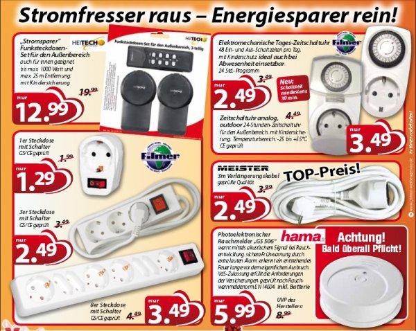 [magro] Steckdose mit Schalter GS/CE geprüft und andere  ab 1,29€