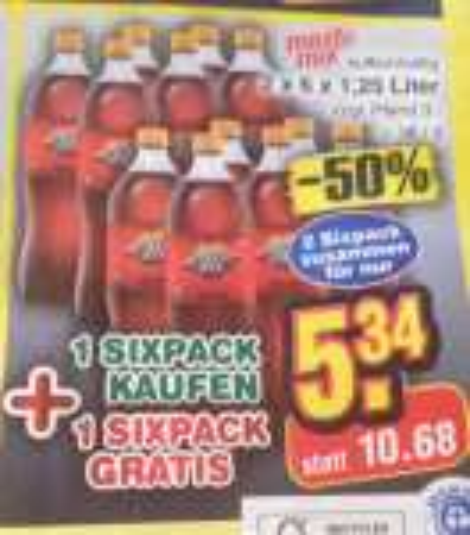 2 x 6 x 1,25 Liter mezzo mix als Samstagskracher - Netto Markendiscount - 5,34 EUR zzgl. Pfand