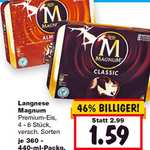 Magnum 4er Pack das Original 1,59 € nur noch bis Samstag bei [Kaufland]