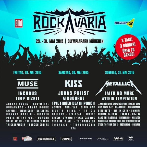 Tagestickets für Rockavaria 2015 ab 55,90 Euro