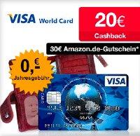Kostenlose Kreditkarte mit Prämien in der Übersicht - 50€ / 65€ / 20€ / 150€