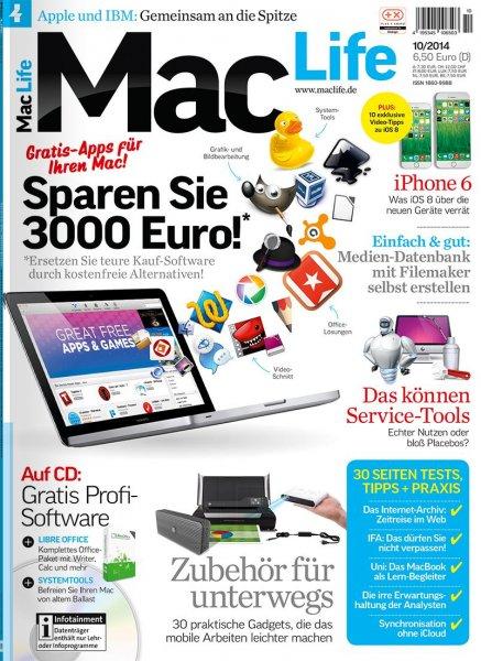 Mac Life Magazin for free unter IOS