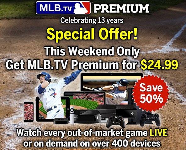 mlb.tv Premium 2015 für $24,99 USD