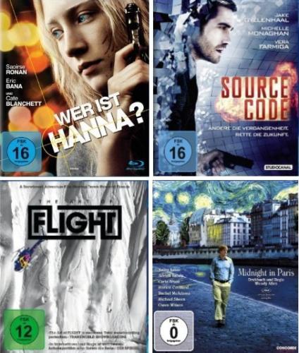 BluRay-Neuheiten für 9,97 bei Amazon.de - Wer ist Hanna, Source Code, Art of Flight, Midnight in Paris