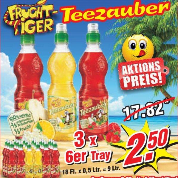 Frucht Tiger Teezauber 18 Flaschen je 0,5 L für 2,50 € zzgl. Pfand bei Wiglo