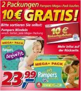 real: 10€ Einkaufsgutschein bei Kauf von 2x Pampers Mega-Pack