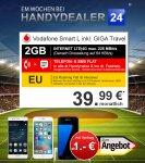 Vodafone Smart L inkl. GIGA Travel 2GB LTE Max, 39,99€/Monat + S7 Edge 1€/ iPhone 6S 64GB 49€