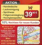 Fahrzeug-Aufbereitung- Handwäsche, Lackreinigung, Sprühwax,Felgen Versieglung, Hochglanz Politur ( Maschine ) Nur 39 € Statt 99 € ( LOKAL- BERLIN )