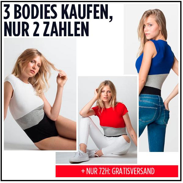 Verlängert: 3 für 2 Aktion auf Bodys (auch Sale) + gratis Versand + 10% on top bei Tally Weijl