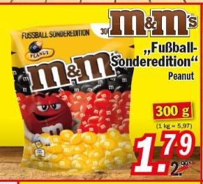 [ZIMMERMANN] M&M's Peanut 300g - 1,79€